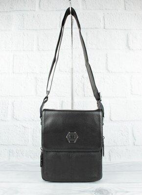 Продано: Мужская кожаная сумка philipp plein 1883-2 черная средняя