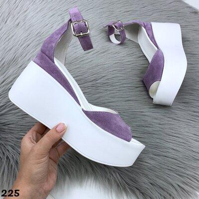 Код 225 Босоножки , цвет Фиолетовый , материал Натуральный Замш , произв Украина , качество LU