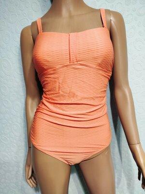 Цельный купальник, женский купальник, купальник персикового цвета, монокини esmara