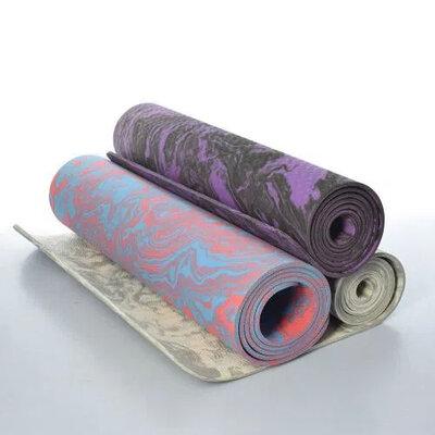 Профессиональный коврик, каремат для йоги, йогамат TPЕ, мрамор