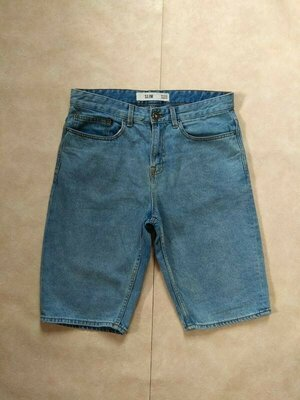 Мужские джинсовые шорты бриджи New look, 32 размер.