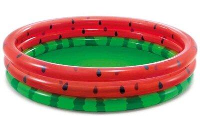 Intex Бассейн Арбуз 3 кольца, от 2 лет, диаметр 168см, высота 38см, 581л.