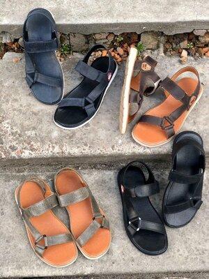 Мужские сандалии, натуральная кожа код ks-8206