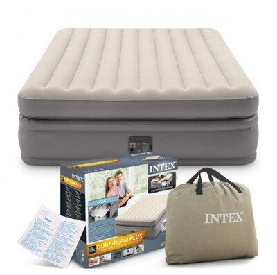 Двухспальная надувная кровать Intex 64164 Comfort-Plush со встроенным электронасосом