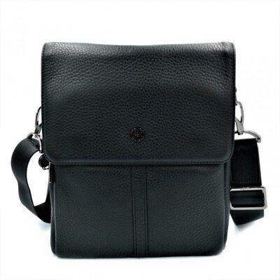 Мужская кожаная сумка H.T.Leather Чёрного цвета 5387-3