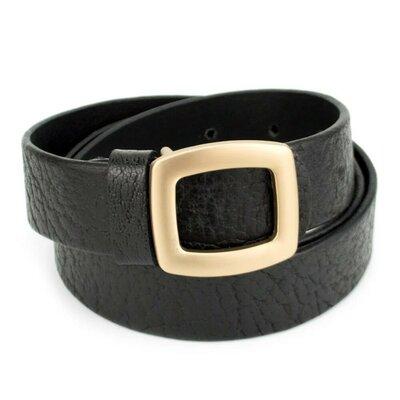 Ремень женский кожаный черный JK-3060 black 105 см