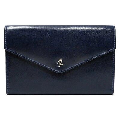 Женский кожаный кошелек синий вертикальный Rovicky N210-RBA Blue