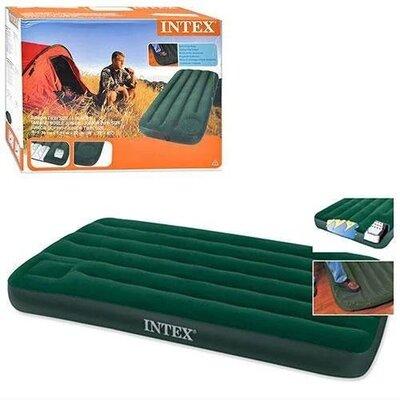 Матрас Intex 66950 велюровый со встроен ножным насосом 193 76 22см, в кор.28 32 15см., INTEX