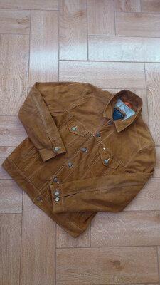 Куртка замшевая мужская коричневая Tommy Hilfiger замшева чоловіча Томми Хилфигер m-l