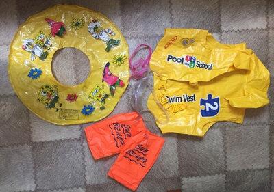 Спасательный жилет нарукавники круг очки для плавания