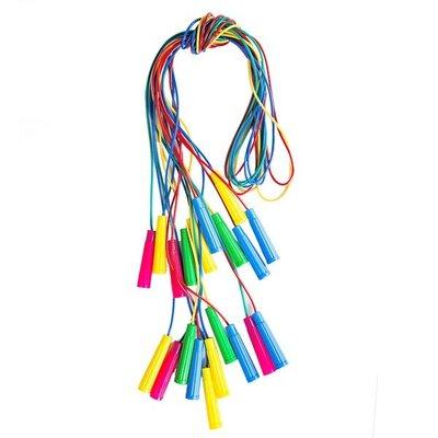 Скакалка 6 цветная длина 260см, диам 5 мм 035/12 Бамсик