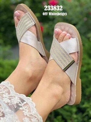 Супер Модные И Шикарные Шлепанцы прес-кожа Бренд AISIDA Золотое напыление-Стразы