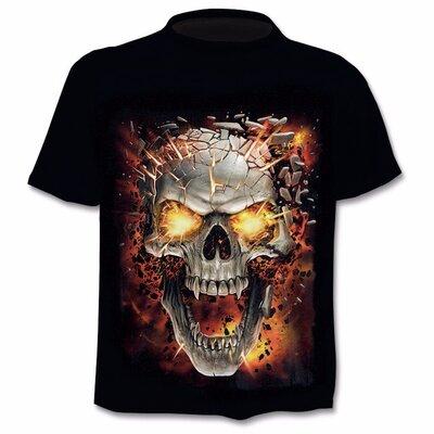 Модные футболки Череп 3D принт Разные расцветки