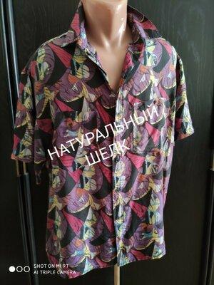 Натуральный шелк. Лёгкая невесомая мужская рубашка