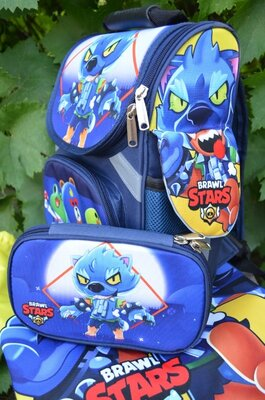 Рюкзак принт Бравл Старс Brawl Stars школьный рюкзак купить в школу
