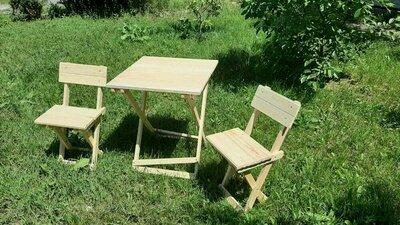 Раскладные деревянные столы стулья