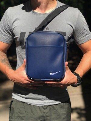 Сумка через плече Велика Сумка-Мессенджер Nike Кож.зам Blue