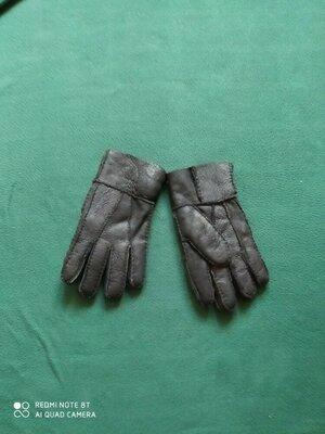 Перчатки мужские кожа на меху