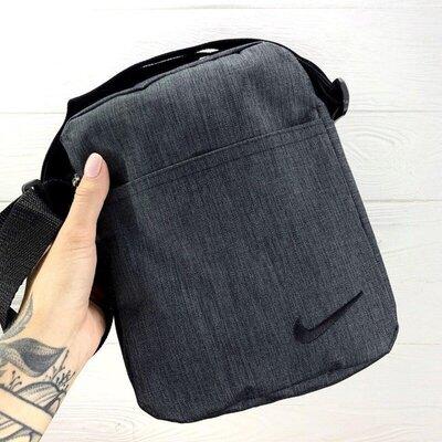 Барсетка Nike темный мелажн с черным лого 1593005449in