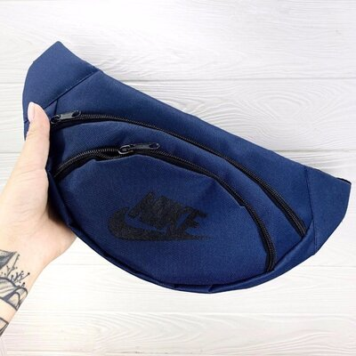 Бананка поясная сумка темно- синяя Nike накатка