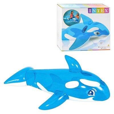 Intex Надувная игрушка плотик Касатка 57520 NP 152 114 см винил от 3 лет с ручками