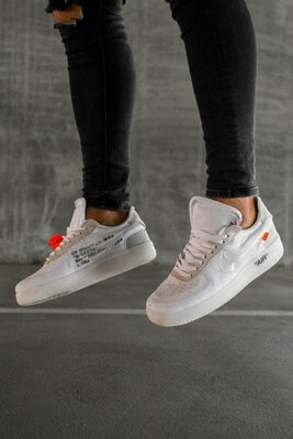 Кроссовки Nike Air Force 1 Off-White White AAA