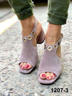 Женские бежевые пудра натуральные замшевые босоножки из натуральной замши натуральная замша каблуке