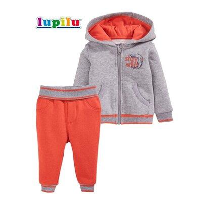 Теплый костюм на флисе 6~12 мес для малыша Lupilu комплект с начесом для мальчика