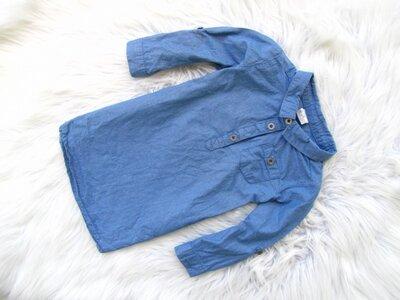 Качественная джинсовая рубашка туника H&M