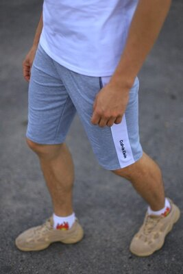 Шорты Calvin Klein серые с белым лампасом