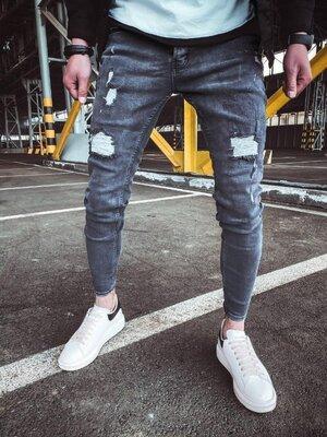 2020. Варианты. Европейское качество. Мужские джинсы рваные зауженные Турция 2Y Premium 1065