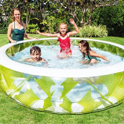 Бассейн 229 на 56 см прозрачный детский семейный Интекс Intex 57182