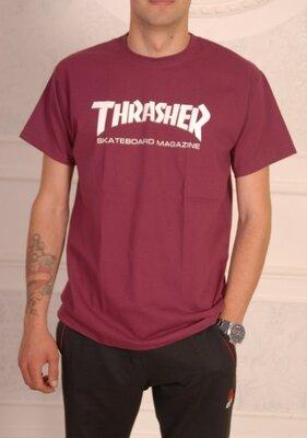 Бордовая футболка Thrasher