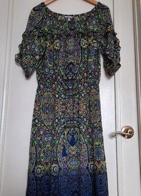 Новое пляжное платье Victorias Secret оригинал р.S кавер-ап пляжная туника макси в пол омбре шифон