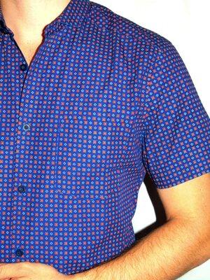 Шикарная синяя шведка в принт - S - M