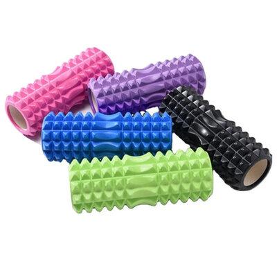 Валик массажный, роллер, ролик для фитнеса и йоги CF88 EVA 33 x 14 см