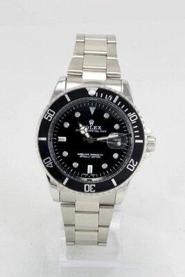 Мужские часы реплика Rolex Submariner Silver/Black
