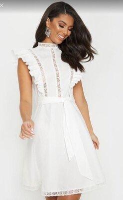 Продано: Распродажа .Белое лёгкое платье PrettyLittleThing