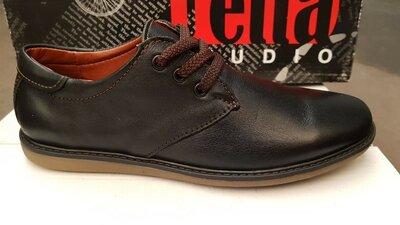 Классические туфли на мальчика,кожаные,черные,низкая цена