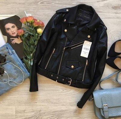 Крутая куртка косуха из экокожи с ремнем Косуха женская Черная косуха Жіноча косуха Чорна куртка ко