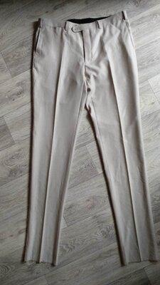 Брюки мужские 50 размер высокий рост светлые штаны тонкие летние