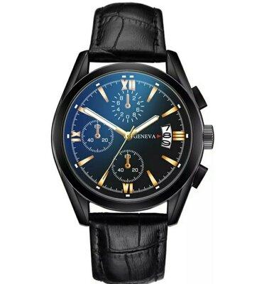 Мужские наручные часы с датой Geneva - чоловічий наручний годинник з датою