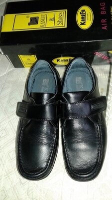 Школьные мокасины, школьные кожаные туфли для амльчика 21,5см, 23 см