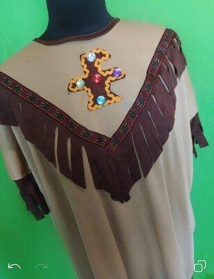 Карнавальная рубашка. Карнавальный костюм. Индианец.