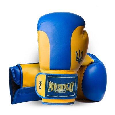 Продано: Боксерські рукавиці PowerPlay 3021 Ukraine Синьо-Жовті