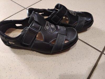 Летние кожаные туфли для мальчика 17,5-18-18,5см, летние туфли для мальчика