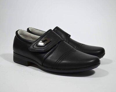 Черные школьные туфли B&G для мальчика р.33,36