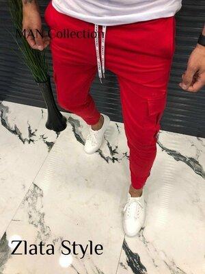 Мужские стильные штаны 7168 двунитка расцветки