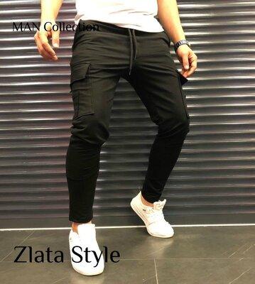 Мужские стильные штаны 7416 двухнить расцветки