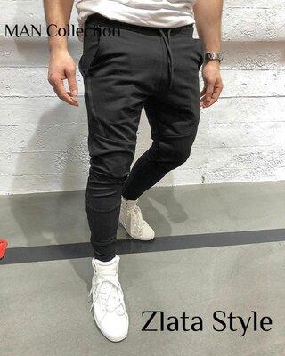 Мужские стильные штаны 7149 двунитка расцветки Турция